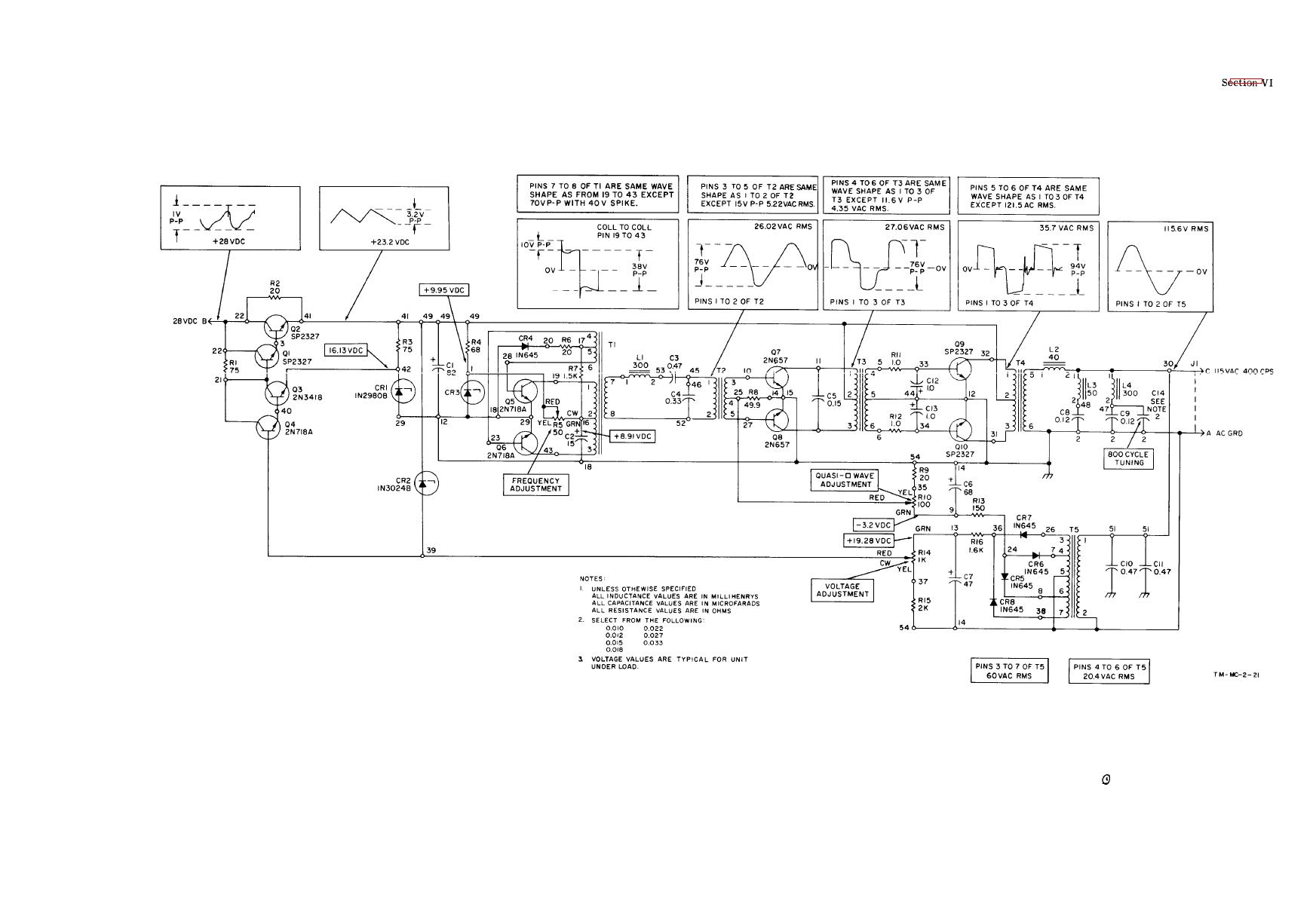 TM 11 4920 292 150113im figure 6 8b inverter schematic diagram 3-Way Switch Wiring Diagram for Switch To at pacquiaovsvargaslive.co