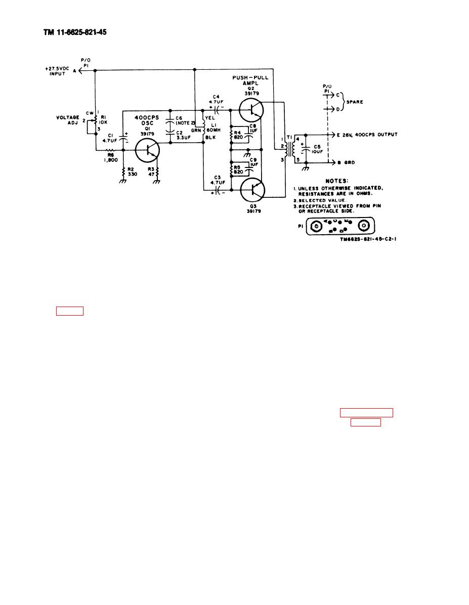 Figure 1 2 Inverter Power Static Cv 2128 Arn 83 Schematic Diagram